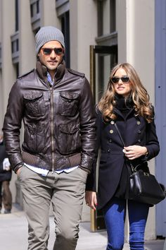 The Olivia Palermo Lookbook : Olivia Palermo and Johannes Huebl in New York.
