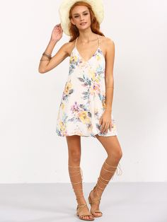 Shop Multicolor Flower Print Strappy Swing Cami Dress online. SheIn offers Multicolor Flower Print Strappy Swing Cami Dress & more to fit your fashionable needs.