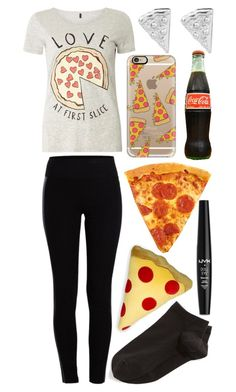 """""""Pizza"""" by musicmelody1 ❤ liked on Polyvore featuring Dorothy Perkins, Casetify, Pieces, Rock 'N Rose, Wolford, Throwboy and NYX"""