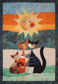 Quilt design by Rosina Wachtmeister, class at Patchworkstatt (Switzerland)
