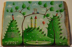 """""""me 06"""" Paweł Widera original paintings, acrylic on wood"""