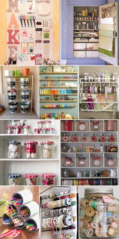 '10 Chic Craft Supply Storage Ideas to Finally Get Organized...!' (via DIY-TIPS-INSPIRATION)