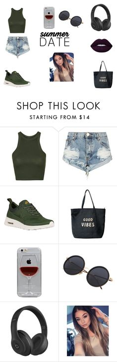 """Untitled #205"" by timcaaa on Polyvore featuring Topshop, One Teaspoon, NIKE, Venus, Reyes, Beats by Dr. Dre and Lime Crime"