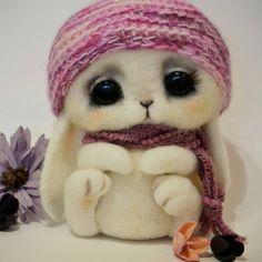 Зайка Полли  #handmade #homedecor #dryfelting #rabbit #cute  #ручнаяработа