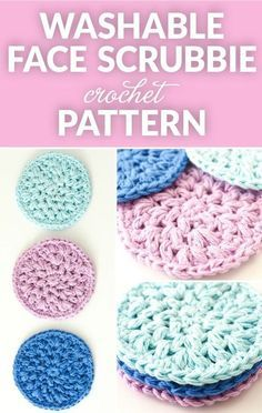 Reusable Crochet Face Scrubbies Scrubbies Crochet Pattern