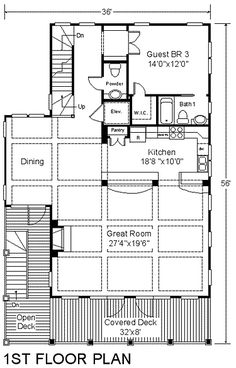 The Seawatch I plan is designed for narrow lots needing views from the master bedroom and great room. The large Great Room, Dining […] Coastal Cottage, Coastal Homes, Beach Homes, Cottage House Plans, Cottage Homes, Beach House Floor Plans, Gas Fireplace Logs, Walk In Shower, Beach Cottages
