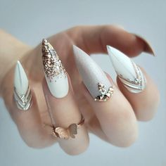 "2,427 Likes, 53 Comments - Nail Stylist // Luxe press-ons (@perfect10customnails) on Instagram: ""white ◻️"""