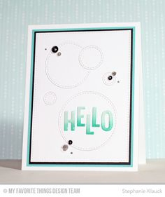 Little Letters Die-namics, Stitched Circle STAX Die-namics - Stephanie Klauck  #mftstamps