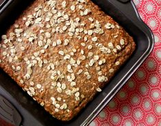 This Vegan Banana Oat Bread is healthy, moist and contains FIVE bananas! Full of hearty ingredients like banana, oats, flax + coconut oil! Try it out!