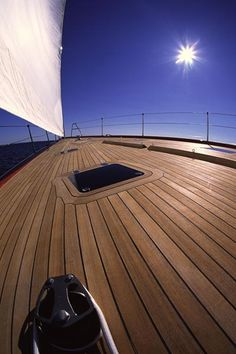 Deck of a sailboat