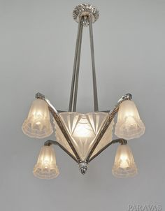French art deco degue chandelier with geometric peach glass art french art deco degue chandelier with geometric peach glass art deco lighting ceiling pinterest french art art deco and chandeliers aloadofball