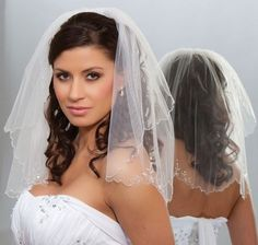 wedding hairstyles with veil | ... bridal veil shoulder length down hairstyle | Womens Bridal Headpieces