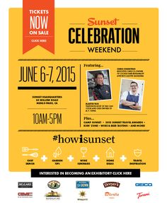 Come to my wine seminars, each day at 1pm http://www.sunset.com/marketplace/celebration-weekend-2015
