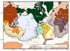 té 11 km de profundidade, a exemplo da trincheira das Marianas, no mar das filipinas (Figura 7). Figura 7. Mapa-mundi com principais placas tectônicas. Visitar página  Visualizar imagem