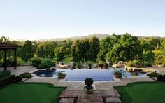 Traditional Pool by Madeline Stuart & Associates and Kevin A. Clark in Los Angeles