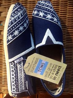 I wish I could buy every pair of TOMS SHOES! These are one pair of my favorite TOMS shoes.$19