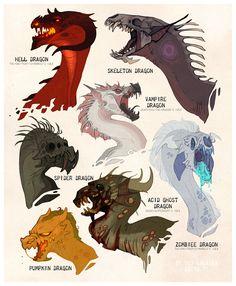 Halloween Dragons by LiLaiRa on deviantART