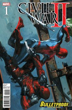 Civil War II #1 variant cover - Spider-Man vs. Deadpool by Gabriele Dell'Otto *