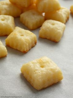 Homemade Cheez-Its: Made a batch of these and they were amazing!! I would make a double batch though since they went so quickly.