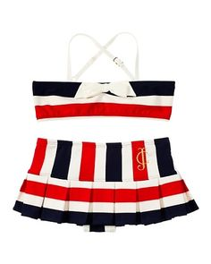 5762d4fc4b85a Juicy Couture   Port Stripe Bandeau Top Bikini Girls Boutique, Boutique  Clothing, Cheerleading Outfits