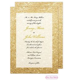 Glitter Ombre Invitation |  visit elizabethrichardgifts.com and go to our online store to purchase! They are completely customizable too!