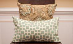 No Zipper Envelope Pillow Tutorial - The Thrifty Abode