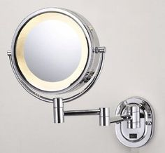 SeeAll 8 Chrome Finish Dual Sided Surround Light Wall Mount Makeup Mirror (Hardwired Model) - Amazon.com