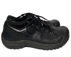 Keen Briggs Black Leather Shoes Men's 10.5 Oxford Casual Sneakers Nubuck USA #KEEN #Oxfords