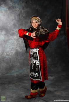 A Dagestani woman in national costume