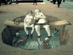 Street Art Illusions | Amazing street art illusions by Eduardo Rolero from Argentina. He is ...