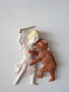 Marta Claret Ceramics Outsider Art, Little Things, Clay, Ceramics, Sculpture, Dolls, Christmas Ornaments, Studio, Holiday Decor