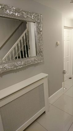 dulux chic shadow so light and airy calm clean grey porch in Room Paint Colors, Paint Colors For Living Room, Dulux Paint Colours Grey, Dulux Paint Colours Hallways, Grey Hallway Paint, Light Grey Paint Dulux, Living Room Ideas Grey And White, Dulux Bedroom Colours, Colour Schemes For Living Room