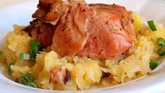 Lepenice s pečeným krůtím stehnem Gnocchi, Mashed Potatoes, Turkey, Rice, Snacks, Dishes, Chicken, Meat, Vegetables