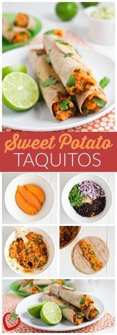 Sweet Potato Taquitos Recipe. A flavorful and filling vegetarian meal!