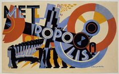Poster design for the film Metropolis by Fritz Lang. Gouache on paper. Architecture and Design Metropolis Poster, Metropolis 1927, Gouache, Art Deco, Art Nouveau, Fritz Lang, Kunst Poster, Movie Poster Art, Museum Of Modern Art