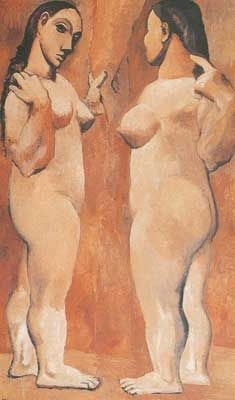 Pablo Picasso, Two Nudes (Paris, late oil on canvas, cm - MoMA, NYC Kunst Picasso, Art Picasso, Picasso Paintings, Henri Matisse, Henri Rousseau, Georges Braque, Figure Painting, Painting & Drawing, Spanish Painters