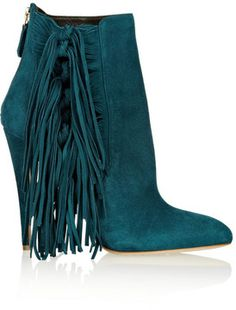 Brian Atwood Pipi fringed suede ankle boots on shopstyle.com