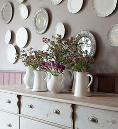 Flamant online shop for unique furniture and home interior decoration White Dishes, White Pitchers, White Plates, Wall Decor, Room Decor, Wall Art, Pretty Room, Romantic Cottage, Interior Decorating