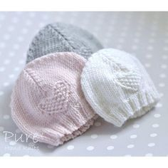 Baby Hat 'Fay' 4x Preemie sizes/Newborn/Baby/Toddler Knitting pattern by Pure Hand Knits