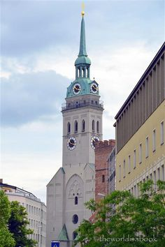 peterskirche or st peters church walking tour of munich with kids germany blueberries viktualienmarkt munich visit