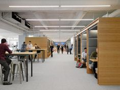 "<p>At the new Square office in San Francisco, designers and engineers work side by side in collaborative spaces, such as cabanas, outdoor seating, and common areas--as well as individual spaces, such as phone rooms, standing desks, and seating areas lining the windows. This is the Square ""boulevard"" that leads to the in-office coffee bar.</p>"
