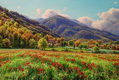 Gallarets a la Vall de Bianya (La Garrotxa)    oleo sobre tela  55 x 38 cm.