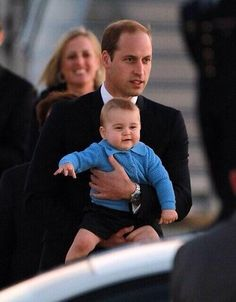 Prince William and his son, Prince George