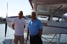 """Former Captain of the Boston Bruins Johnny Bucyk """"The Chief"""", takes a charter to his lake house on Kootenay Lake"""