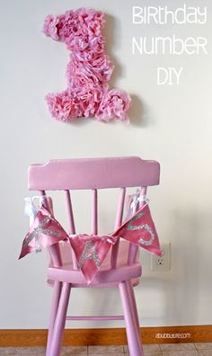 DIY Paper Flowers Birthday Number - YES, I will be creating a for Elli Diy Birthday Number, 1st Birthday Girls, First Birthday Parties, First Birthdays, Birthday Ideas, Diy Craft Projects, Diy Crafts, Thing 1, Tissue Paper Flowers