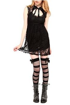 I <3 this outfit especially the boots with thigh high bow socks.