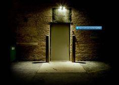 Dark alley door photo by eatmewoot Shattered Book, Wise Monkeys, Mothman, Internet, Back Doors, Website, Candle Sconces, Entrance, Wall Lights