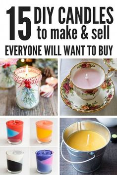 Crafts that Make Money: Start a Candle Business from Home Easy DIY Crafts to make and sell from home! These unique candles are a great way to use your creative DIY hobby to earn extra cash. Homemade candles are perfect gifts for Fall and Christmas. Diy Candles Easy, Unique Candles, Homemade Candles, Soy Candles, Homemade Gifts, Diy Candle Ideas, Diy Candles To Sell, Making Candles, Fall Candles
