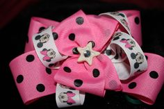 Mickey and Minnie are stars bow-$10