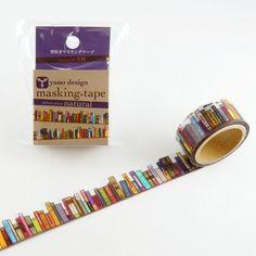 Bookshelf Tape Round Top Masking Tape • Yano Design Debut Series Natural Washi Tape YD-MK-001